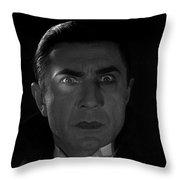 Bela Lugosi  Dracula 1931 And His Piercing Eyes Throw Pillow