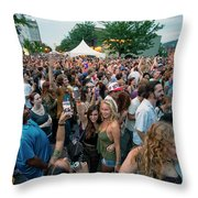 Bele Chere Festival Crowd Throw Pillow