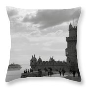 Belem And The Boat Throw Pillow
