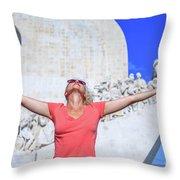 Belem District Lisbon Throw Pillow