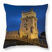 Belem Tower, Lisbon, Portugal Throw Pillow