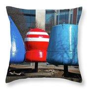 Belfast Buoys Throw Pillow