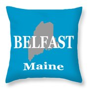 Belfast Maine State City And Town Pride  Throw Pillow