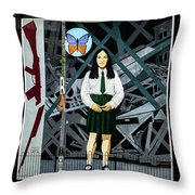 Belfast Mural - Butterfly - Ireland Throw Pillow