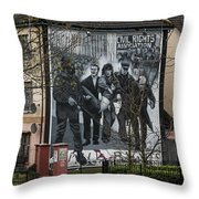 Belfast Mural - Civil Rights Association - Ireland Throw Pillow