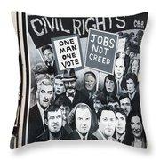 Belfast Mural - Civil Rights - Ireland Throw Pillow