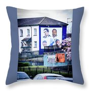 Belfast Mural - Humanitarians - Ireland Throw Pillow