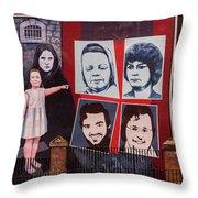 Belfast Mural - Ireland Throw Pillow