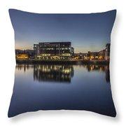 Belfast Near The Docks Throw Pillow