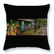Belfast - Painted Wall - Ireland Throw Pillow