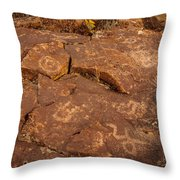 Belfast Petroglyph 6 Throw Pillow