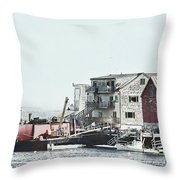 Belfast Tugs 2 Throw Pillow