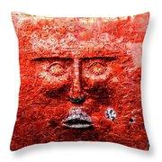 Belfast Wall - Red Face - Ireland Throw Pillow