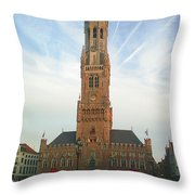 Belfry Of Bruges Throw Pillow