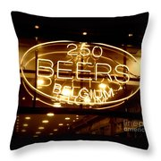 Belgian Beer Sign Throw Pillow
