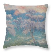 Belgian, Moutons Aux Amandiers  Throw Pillow