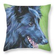 Belgian Sheepdog Throw Pillow
