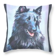 Belgian Sheepdog Portrait Throw Pillow