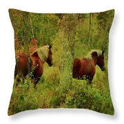 Belgians In Fall Throw Pillow
