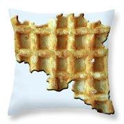 Belgium Wafelland Throw Pillow