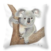 Believing Throw Pillow by Phyllis Howard
