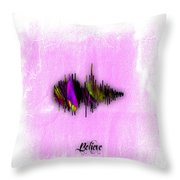 Belive Recorded Soundwave Collection Throw Pillow