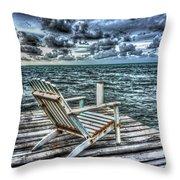 Belize Beach Chair #2 Throw Pillow
