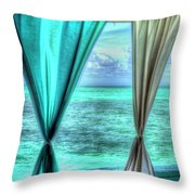 Belize Curtains #1 Throw Pillow