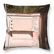 Belize - Sidewalk Breakfast Stand Throw Pillow
