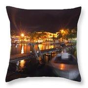 Belizean Night  Throw Pillow