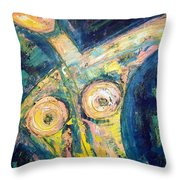 Bell Bottom Blues Throw Pillow