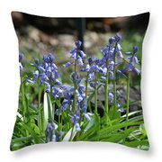 Bell Flowers  Throw Pillow