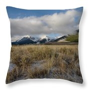 Bell Mountain Mists Throw Pillow