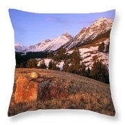 Bell Mountain Sunrise Throw Pillow