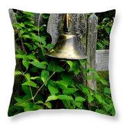 Bell On The Garden Gate  Throw Pillow