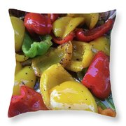 Bell Peppers Original Iphone Photo Throw Pillow by Visual Artist Frank Bonilla