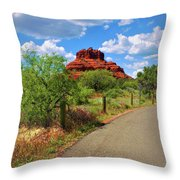 Road To Bell Rock In Sedona Throw Pillow by Ola Allen