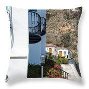 Santa Catalina Island Bell Tower Throw Pillow