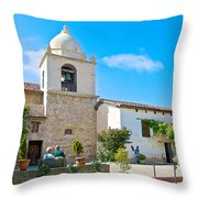 Bell Tower  In Carmel Mission-california  Throw Pillow