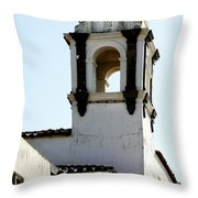 Bell Tower In Santa Cruz Throw Pillow
