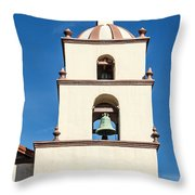 Bell Tower Mission San Buenaventura Throw Pillow