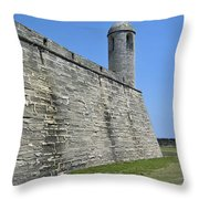 Bell Tower Of The Castillo Throw Pillow