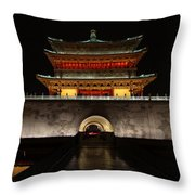Bell Tower Of Xi'an Throw Pillow