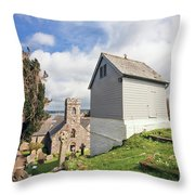 Bell Tower St Mylor Cornwall Throw Pillow