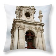 Bell Tower With Red   Throw Pillow
