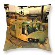 Bell Uh-1h Iroquois Huey Smokey IIi Helicopter Throw Pillow