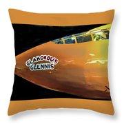 Bell X-1  Glamorous Glennis Throw Pillow