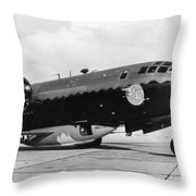 Bell X-1 Resting In Belly Of B-29, 1947 Throw Pillow