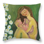Bella And The Gift Throw Pillow