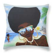 Bella En Miami - Blm Throw Pillow